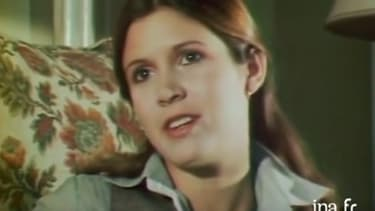 Carrie Fisher, en 1977, sur TF1.
