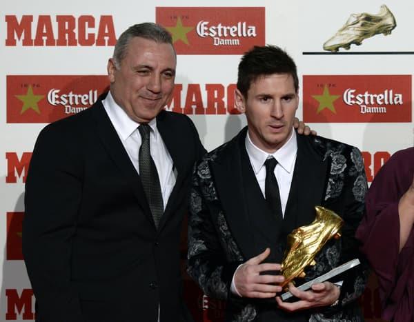 Stoitchkov et Messi en 2013