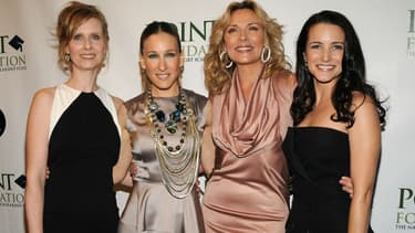 Cynthia Nixon, Sarah Jessica Parker, Kim Cattrall et Kristin Davis à New York en 2009