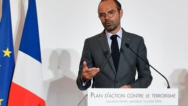Edouard Philippe à la DGSI, le 13 juillet 2018.