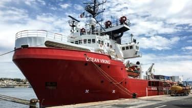 L'Ocean Viking à quai à Marseille le 18 juin 2020