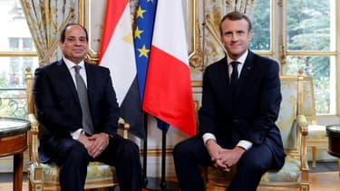 Abdel Fattah Sissi et Emmanuel Macron