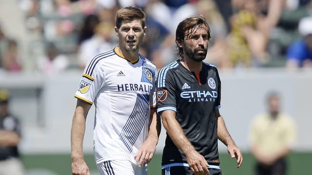 Steven Gerrard et Andrea Pirlo