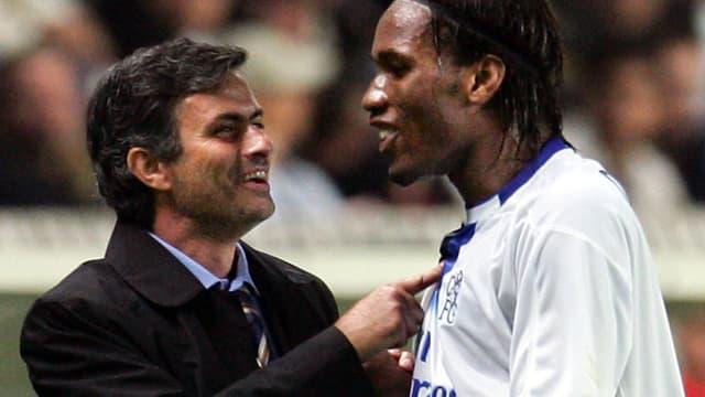 José Mourino et Didier Drogba en 2004