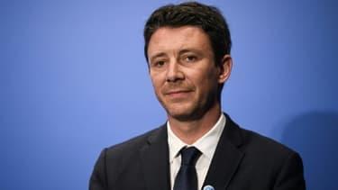 Le porte-parole du gouvernement Benjamin Griveaux lors d'une conférence de presse le 27 avril 2018 à Paris