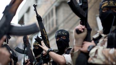 Des militants jihadistes palestiniens lors de funérailles de l'un des leurs à Gaza, le 11 mars dernier.