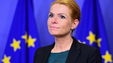La ministre de l'Immigration danoise Inger Støjberg , le 6 janvier 2016 à Bruxelles.