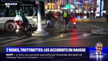 À Paris, le nombre d'accidents de scooters, trottinettes et vélos a sensiblement augmenté depuis le début de la grève