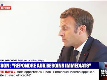 """Emmanuel Macron: """"C'est l'avenir du Liban et du peuple libanais qui se joue"""""""