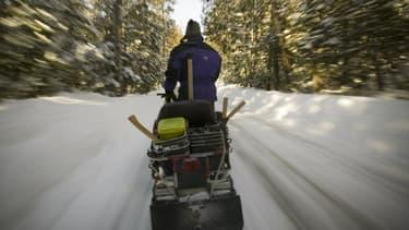 Image d'illustration d'une motoneige à Chertsey, au Canada