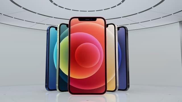 Les iPhone 12 seront disponibles en cinq coloris.