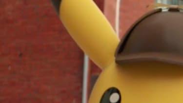 """PIkachu dans la bande-annonce du jeu """"Détective Pikachu"""""""