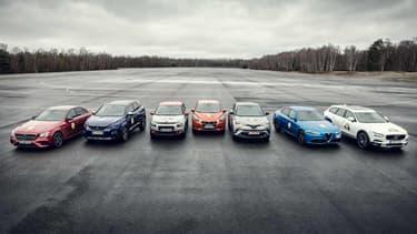 """Les sept voitures finalistes pour être sacrée """"Voiture de l'Année""""."""