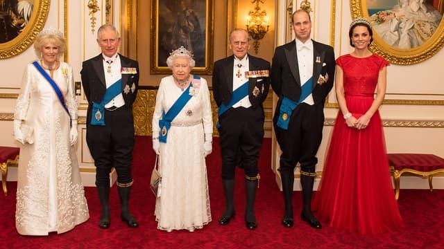 La famille royale le 8 décembre 2016  Londres