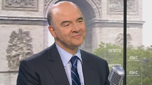 Le ministre de l'Economie, Pierre Moscovici, sur le plateau de BFMTV le 21 mai 2013