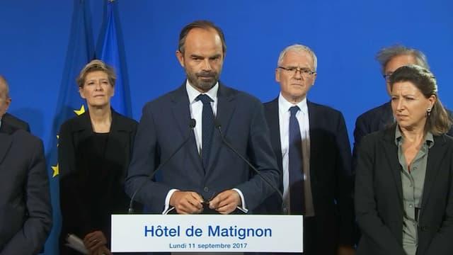 Edouard Philippe lundi après-midi à Matignon.