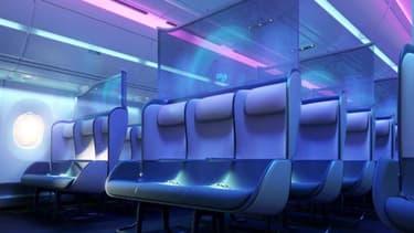 PriestmanGoode, un studio de design britannique, a imaginé des cabines d'avion adaptées aux risques sanitaires, aussi bien en classe économique qu'en classe affaires