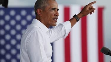 L'ancien président américain Barack Obama le 24 octobre 2020 à North Miami en Floride.