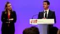Manuel Valls à côté d'Axelle Le Maire à Matignon, le 20 novembre 2014.