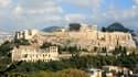 Vue sur l'Acropole d'Athènes.