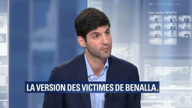Me Sahand Saber, avocat des victimes présumées d'Alexandre Benalla, le 28 juillet 2018 sur BFMTV