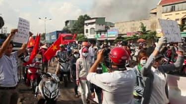 La contestation a commencé mardi et se sont étendues à tout le Vietnam.