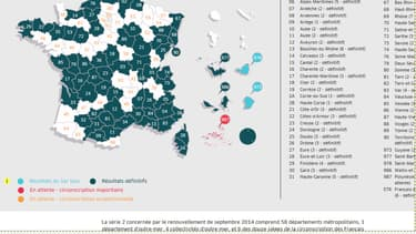 La carte des résultats aux élections