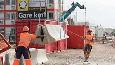 Le chantier de la gare Fort-d'Issy-Vanves-Clamart.