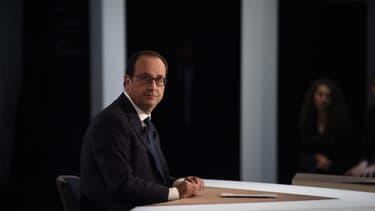 François Hollande sur le plateau de TF1, le jeudi 6 novembre 2014.
