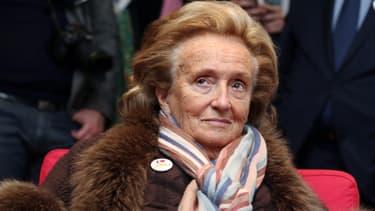 Bernadette Chirac à l'occasion du 25e anniversaire des pièces jaunes à Bordeaux le 5 février 2014.