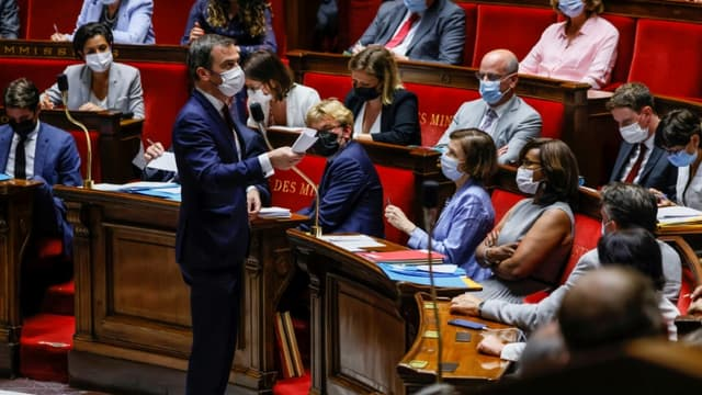 Le ministre de la Santé Olivier Véran à l'Assemblée nationale le 20 juillet 2021