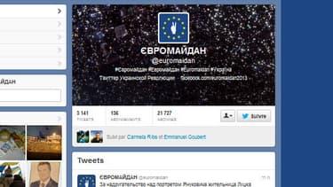 Le compte twitter @euromaidan qui relaie les informations aux manifestants