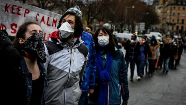 Marche pour le climat à Lyon, le 27 janvier 2019