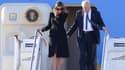 Melania et Donald Trump arrivent à Rome, le 23 mai.