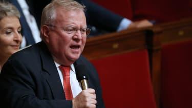 """Le député Jacques Myard, ici en octobre 2013, qui est du voyage en Syrie, a annoncé avoir rencontré Bachar al-Assad avec trois autres parlementaires mercredi, au cours d'une """"mission personnelle""""."""