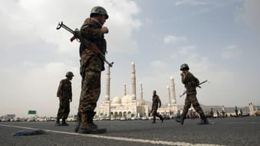 Des soldats au Yémen, dans la capitale Sanaa - photo d'illustration - AFP