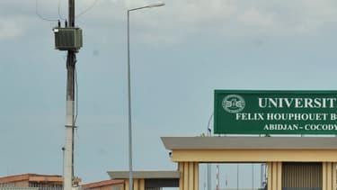 L'entrée de l'université Félix Houphouët-Boigny d'Abidjan, en Côte d'Ivoire