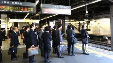 """Des """"salarymen"""" japonais."""