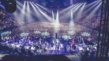 Un concert d'Ibrahim Maalouf à l'AccorHotels Arena, le 14 décembre 2016.