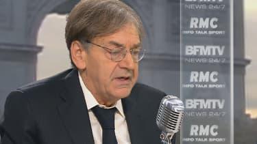 Alain Finkielkraut sur le plateau de BFMTV-RMC, mercredi 21 octobre 2015.