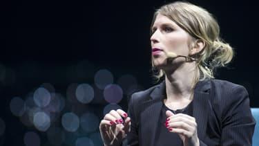 Chelsea Manning lors d'une conférence à Montréal, Canada, le 24 mai 2018.