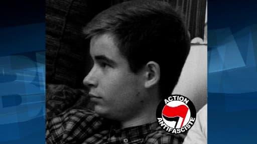 Clément Méric, 19 ans, militant d'extrême gauche, tombé sous les coups mercredi de skinheads d'extrême droite.