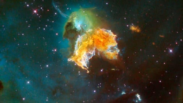 Restes d'une explosion de supernovae.