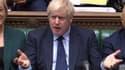 Boris Johnson au Parlement.