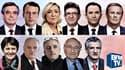 Les onze candidats à l'élection présidentielle.