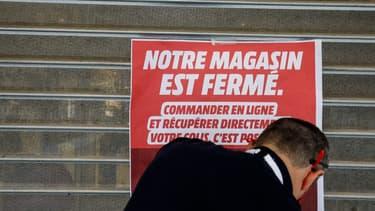 Un commerce fermé en Belgique en raison de la crise sanitaire