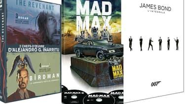"""Des coffrets Inarritu, """"Mad Max"""" et """"James Bond"""" sont proposés à Noël."""