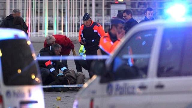 Place Saint Lambert, à Liège, en Belgique, où un tireur isolé a ouvert le feu et lancé des grenades mardi, faisant 5 morts et 125 blessés, avant de se suicider.