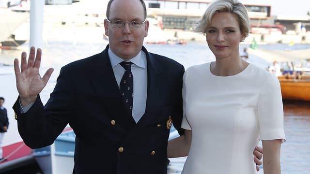 Albert et Charlène de Monaco, le 20 juin 2014 à Monaco.