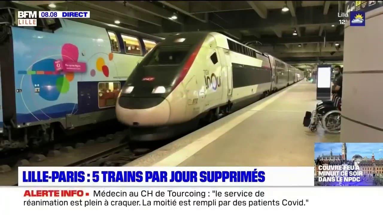 """""""L'excuse du Covid n'est pas acceptable"""": grogne dans le Nord après la suppression 5 TGV Lille-Paris"""